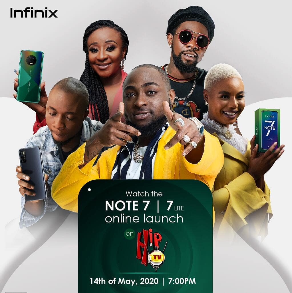 Join The Infinix NOTE 7 Launch Today at 7pm Online Live @hiptv
