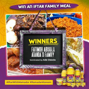 Winners of Mamador iftar Family Meal Giveaway