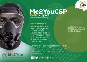 50 Families to Receive Cash Support Due to Covid 19 Pandemic in #Me2YouCSP By YES PROJECT.