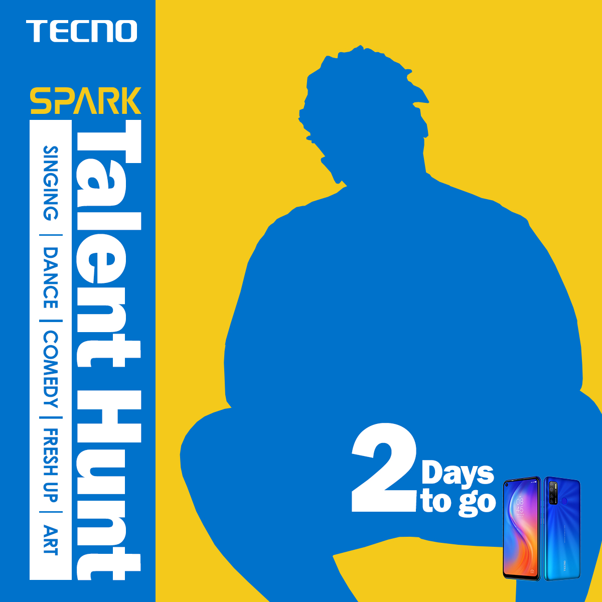 5 Lucky People to Win N200,000 in TECNO Talent Hunt Tagged #PowerOfFive Challenge
