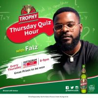 Win N100k and Other Prizes in Trophy Lager Thursday Quiz Hour with Falz