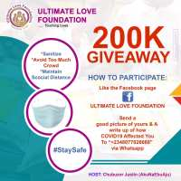 Grab Your Share of the Ultimate Love Foundation N200K Giveaway.