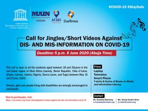 Laptops, Televisions and Smartphones For Grabs in UNESCO Jingles Video Contest.