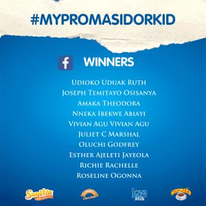 Winners Of  #MyPromasidorKids Children's Day Challenge.