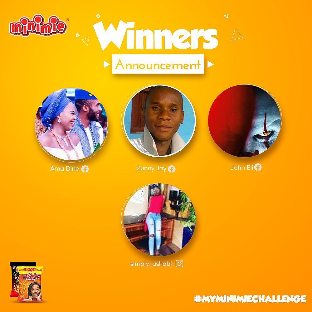 Some Winners of Minimie Challenge Announced!!!