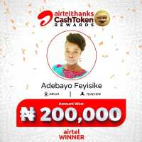 Winners of AirtelThanks Cash Token Rewards.