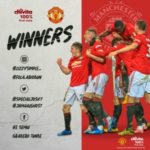 Congrats to Some Winners of Chivita EPL Predict and Win.