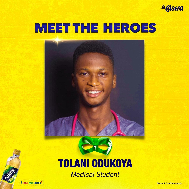 Meet Another Hero  in La Casera N100K Giveaway, Tolani Odukoya.