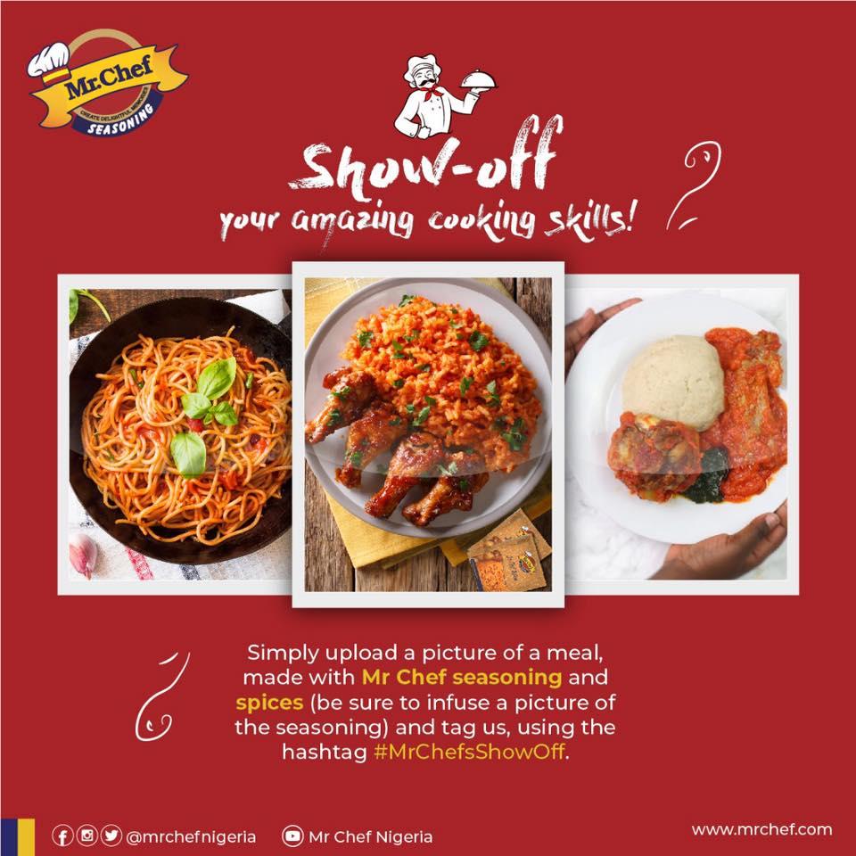 Win Prizes in #MrChefsShowOff Cooking Skills Contest.