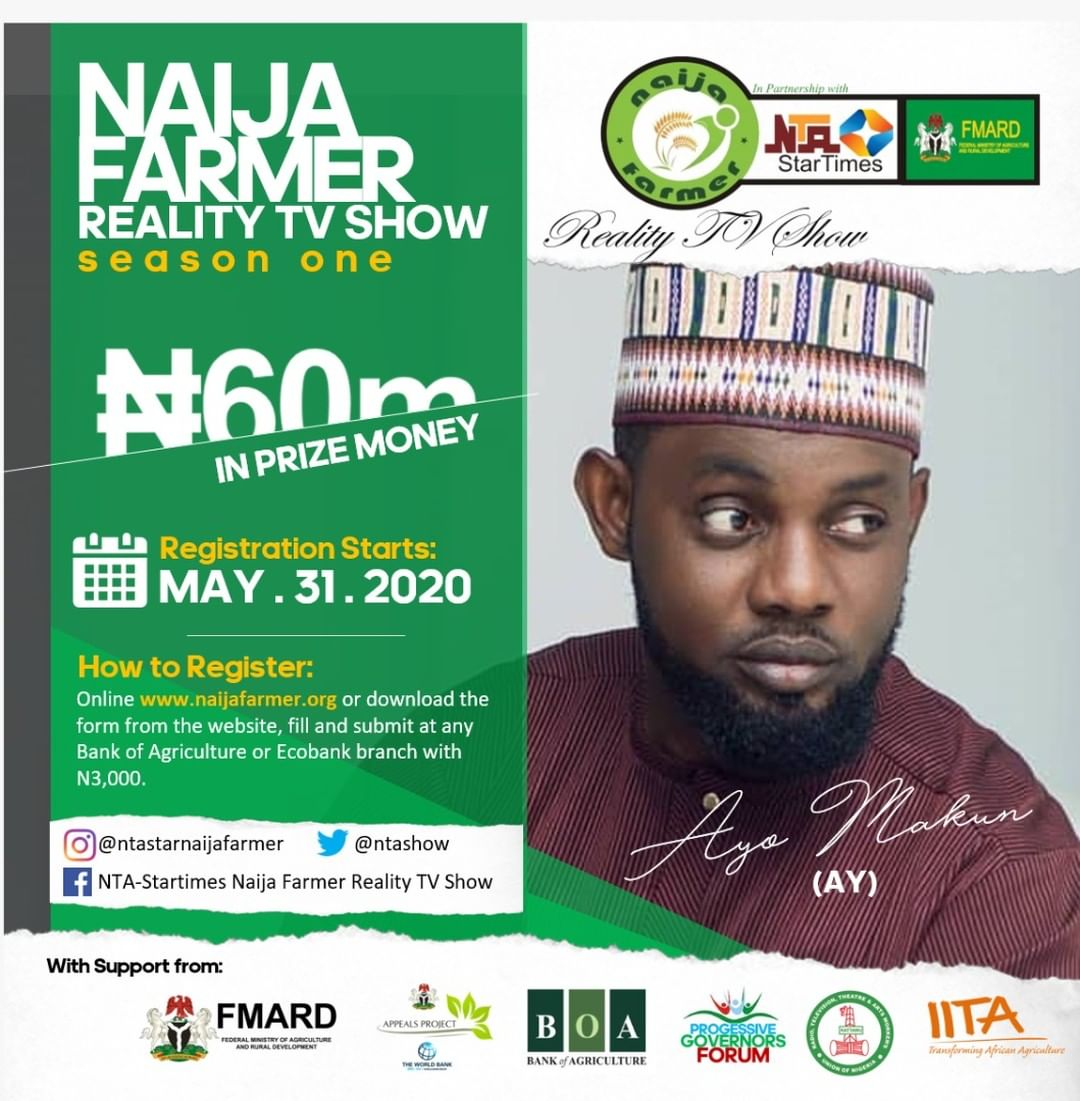 "Naija Farmer Reality TV Show"" 2020 Nationwide Audition Coming Soon!!! N60Million Naira For Grabs."