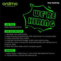 Oraimo Electronics is Hiring Sales Representatives.