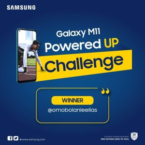 Another Winner of Samsung M11 Powered UP Challenge Has Emerged.