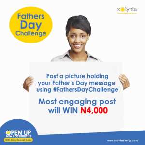 Solynta Energy Fathers Day Giveaway, N4,000 For Grabs.