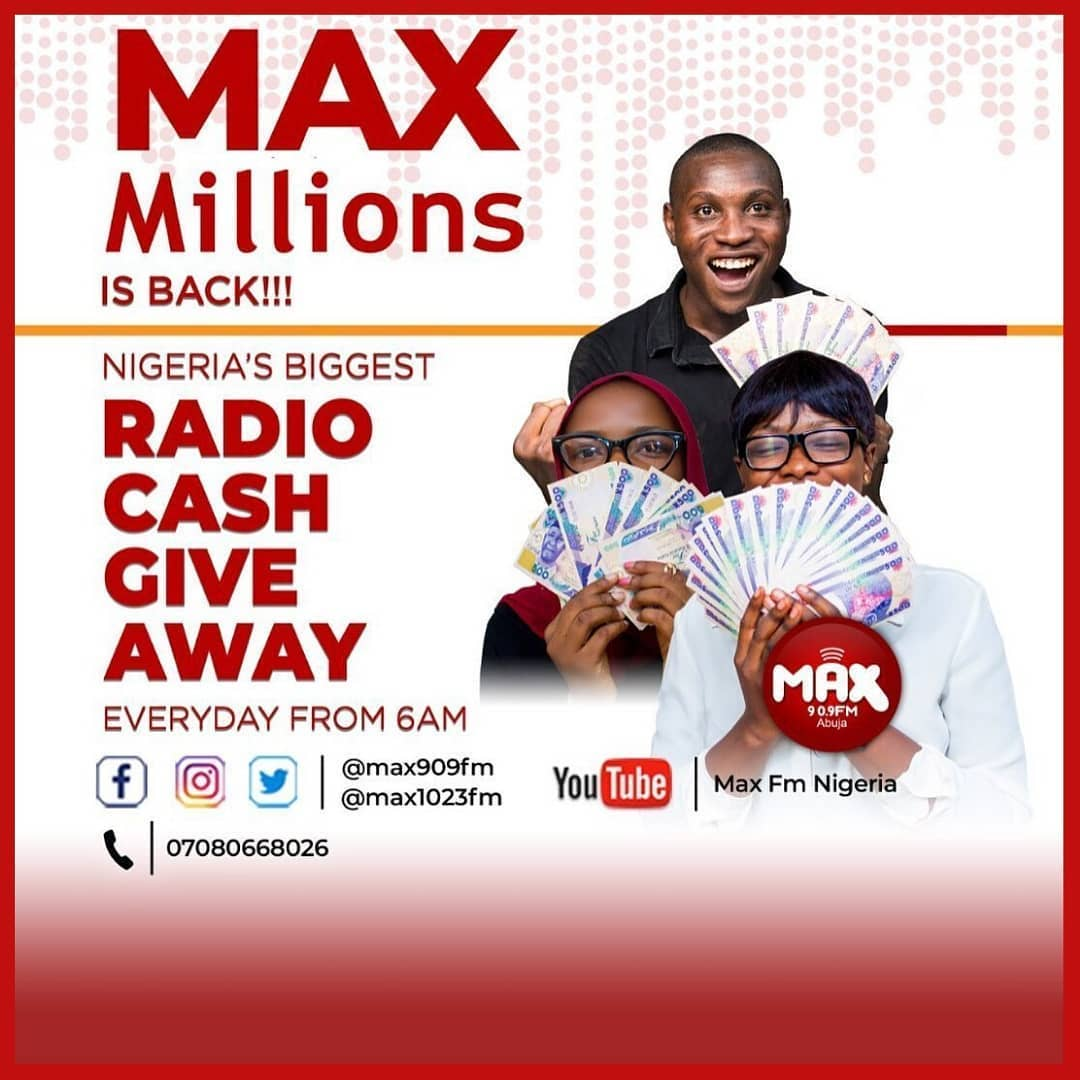 Join The Max Million Radio Cash Giveaway, as There is Loads of Cash for grabs.