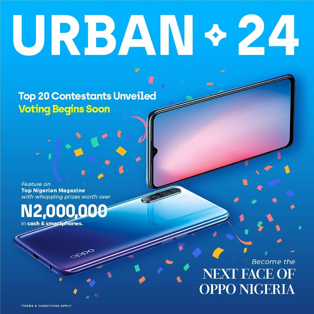 Top 20 Contestants in FACE OF OPPO Nigeria Announced.