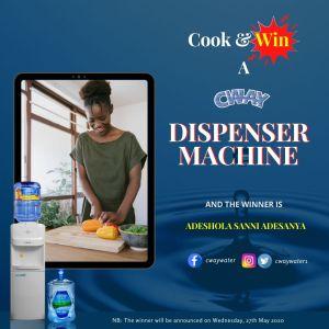 Meet the Winner of Cway Water Cook & Win a Water Dispenser.