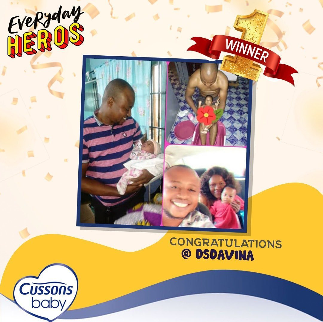 Winners of Cussons Baby Fathers Day Giveaway.