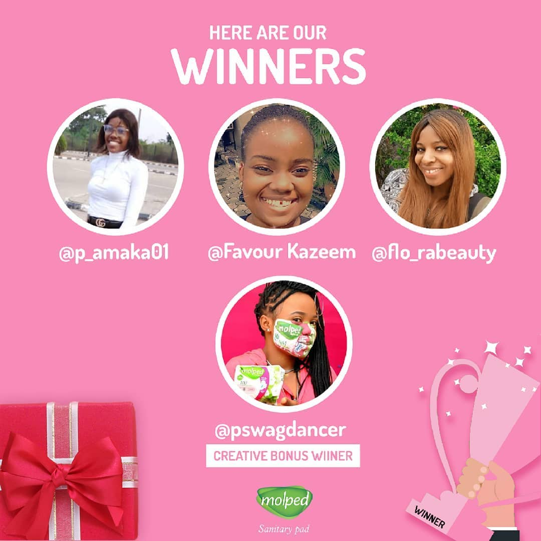 Winners of Molped #MyAhaMolpedMoment Competition.