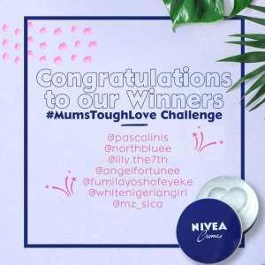 Winners of Nivea #MumsToughLove Challenge.