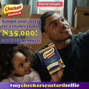 Join the #mycheckerscustardselfie challenge and stand a chance to be the first prize winner of N50,000!!!