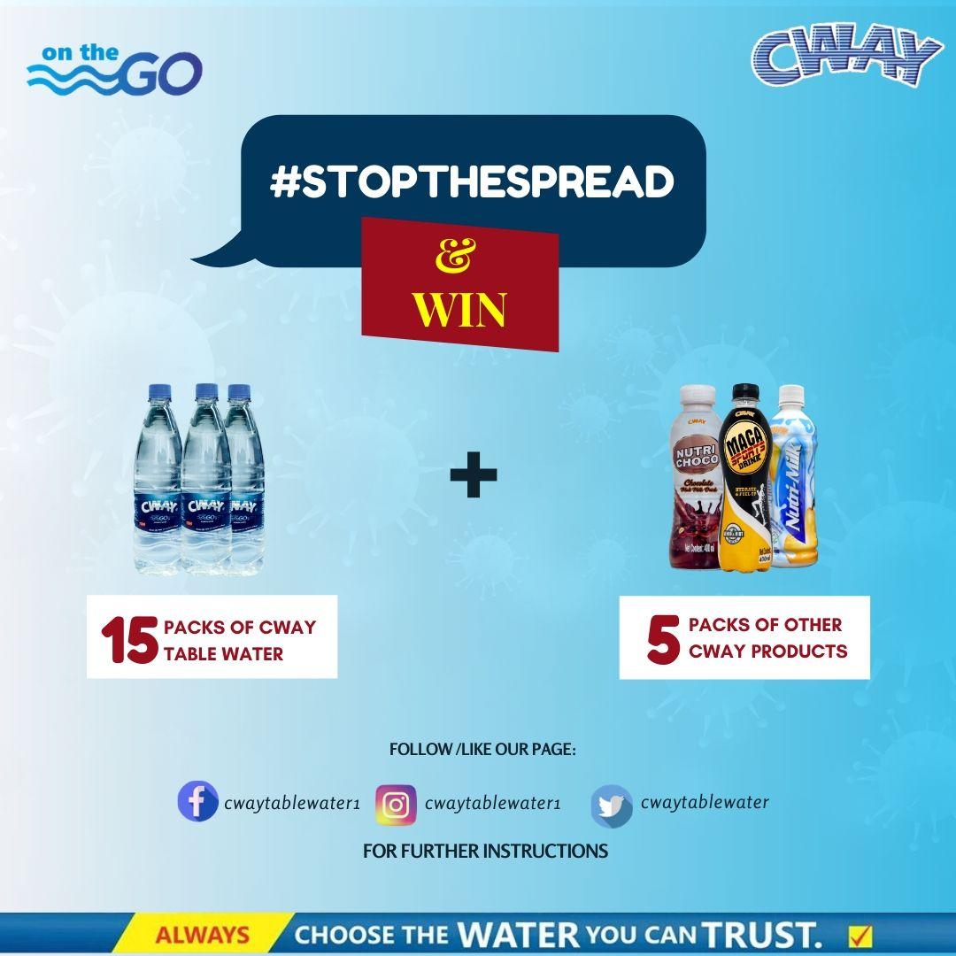 Win Prizes in Cway #StopTheSpread Campaign.