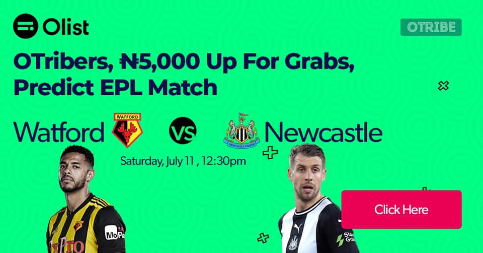 Predict and Win N10,000 in Olist EPL Predict and Win.