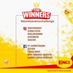 Winners of Devon Kings Don't Leave Me Challenge Announced.