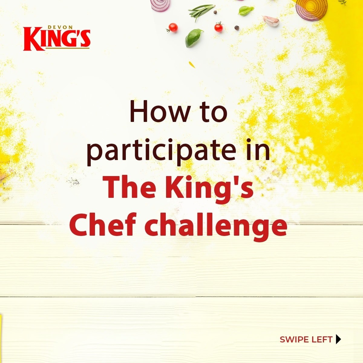 Visual Closure of How To Participate in The Kings Chef Challenge By Devon Kings Challenge