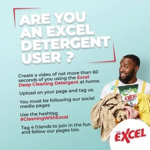 Join Excel Detergent Nigeria Giveaway and Win Prizes.