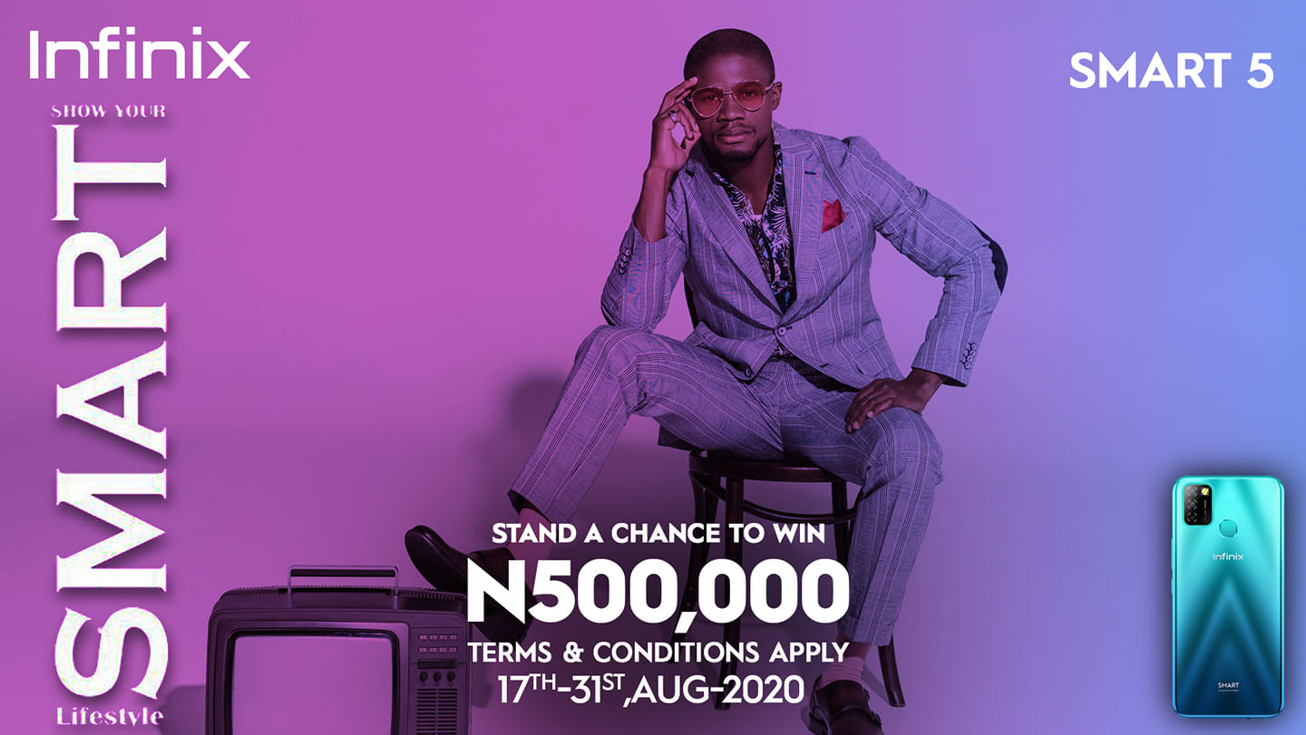 N500K For Grabs in Inifnix #ShowYourSmartLifestyle Competition.
