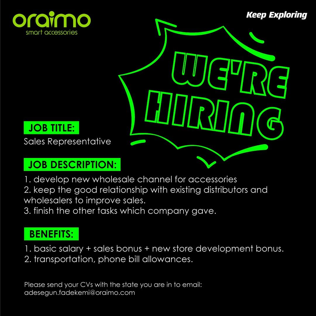 OraimoClub is Hiring!!! Apply ASAP…