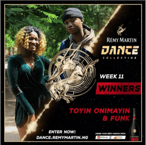 Congratulations to the Winners of Remy Martin Dance Collective Week 11.