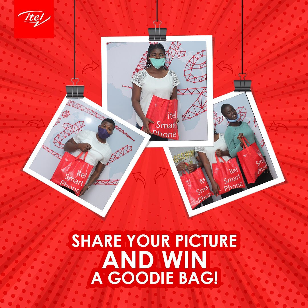 Win a Goodie Bag in itel Selfie Contest.