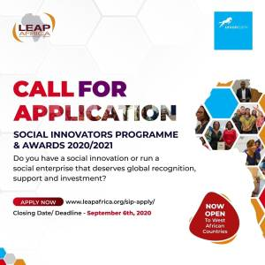 Apply For 2020/2021 @leapafrica Social Innovators Programme (SIP).
