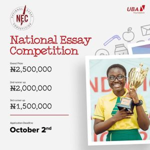 Apply For the 10th UBA National Essay Competition For Secondary Schools.