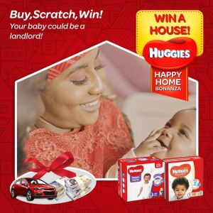 Buy, Scratch and Win a House, Car or Other Awesome Prizes in Huggies Nigeria Giveaway.