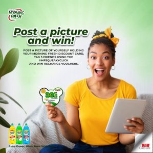 Post a Picture of Your Morning Fresh Discount Card and Win Prizes.