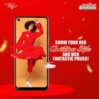Win itel S16 smartphones, TWS Earbuds, Cash, Airtime, and more in #itelRedChristmas.