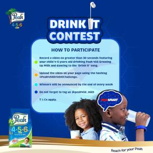 Join The #Peak456DrinkItChallenge and Win Prizes Weekly.
