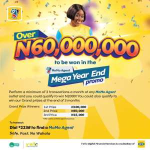 Over N60Million to be won in MTN MoMo Agent Mega Year End Promo.