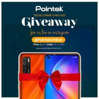 Join the Pointek Tecno Spark 5 Pro KD7 Giveaway.