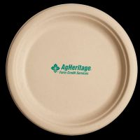 10 inch Kraft Round Compostable Paper Plate | Imprinted ...