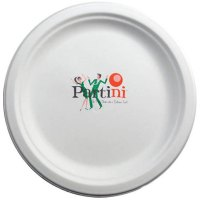 """8.75"""" White Compostable Paper Plates"""