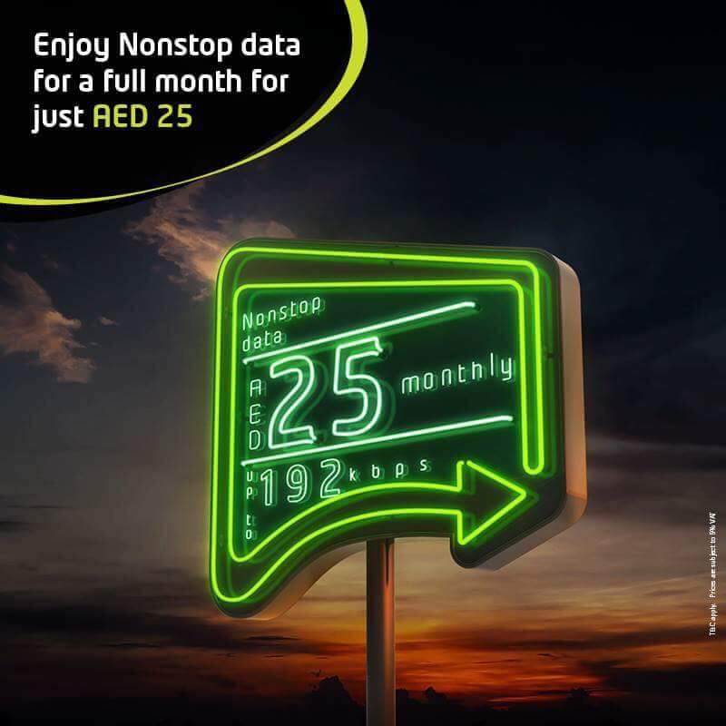 7dfc3df31ad Enjoy nonstop data for a full month for just AED 25 on etisalat -