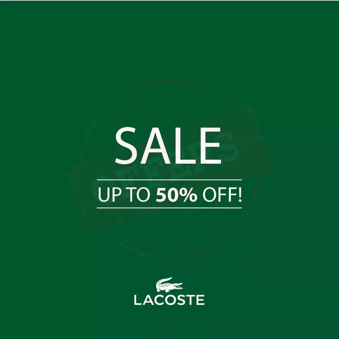 new product 6f95c defa4 Lacoste Sale upto 50% - Promotionsinuae