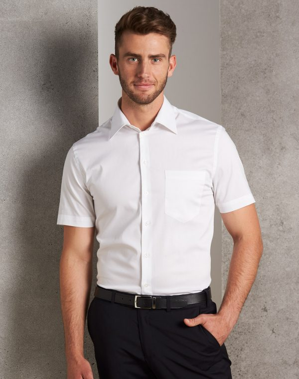 M7020S Men's Cotton/Poly Stretch Short Sleeve Shirt 1 | | Promotion Wear