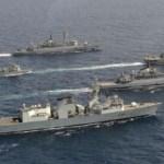 Patru nave ale Aliantei Nord-Atlantice