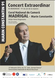 Afis Concert Marin Constantin 91