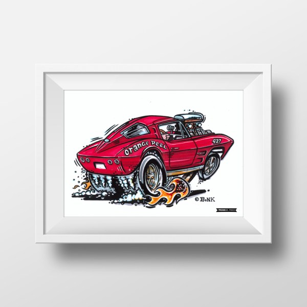 Vehicle Cartoon Commission - Hotrod Style Pronk Graphics