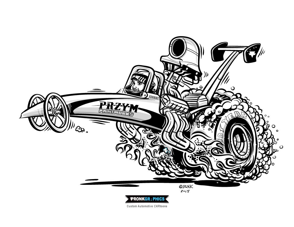Rat Rod Racer Concepts Sketch Coloring Page